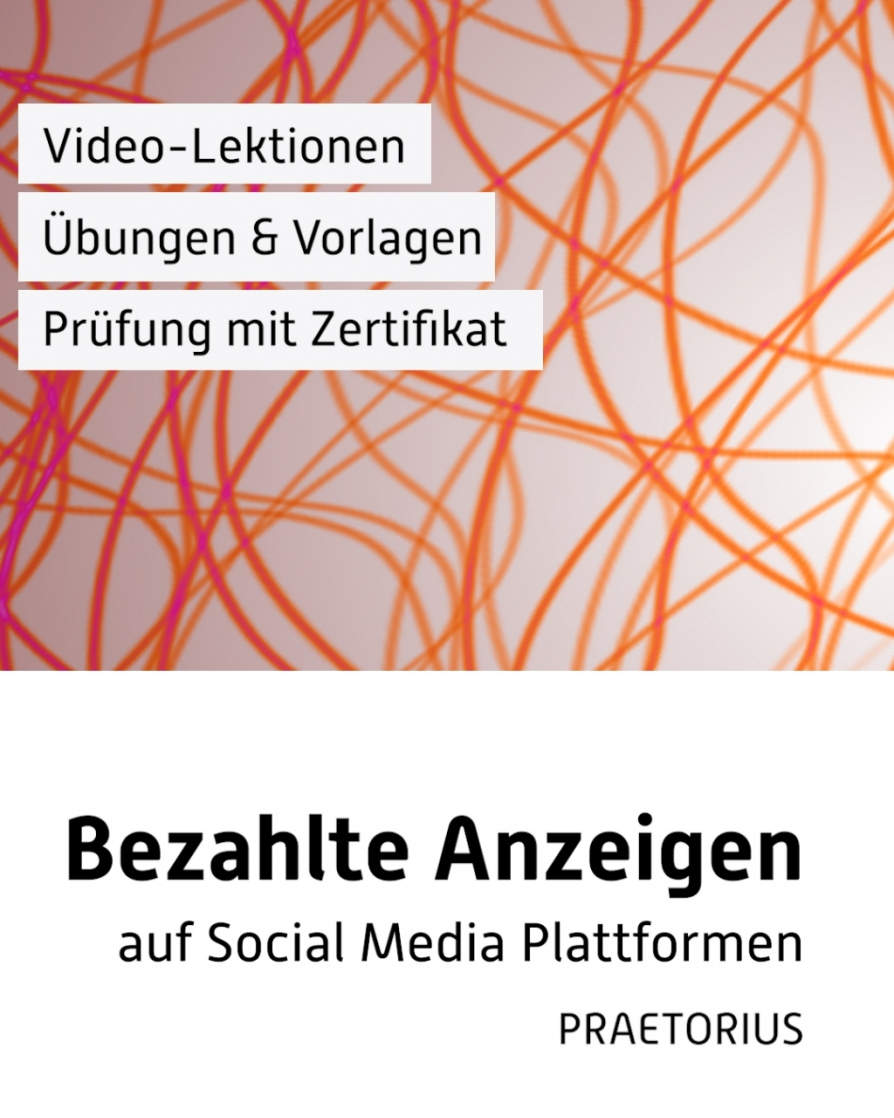 Video-Kurs Social Media Kampagnen - Paid Social - Facebook Ads, Linkedin Ads und YouTube Ads